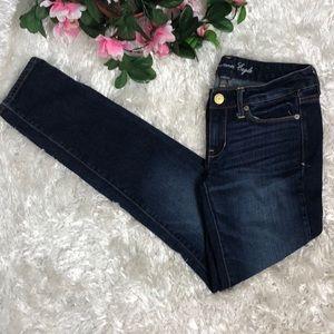 American Eagle Dark Wash Skinny Stretch Jeans Sz 2